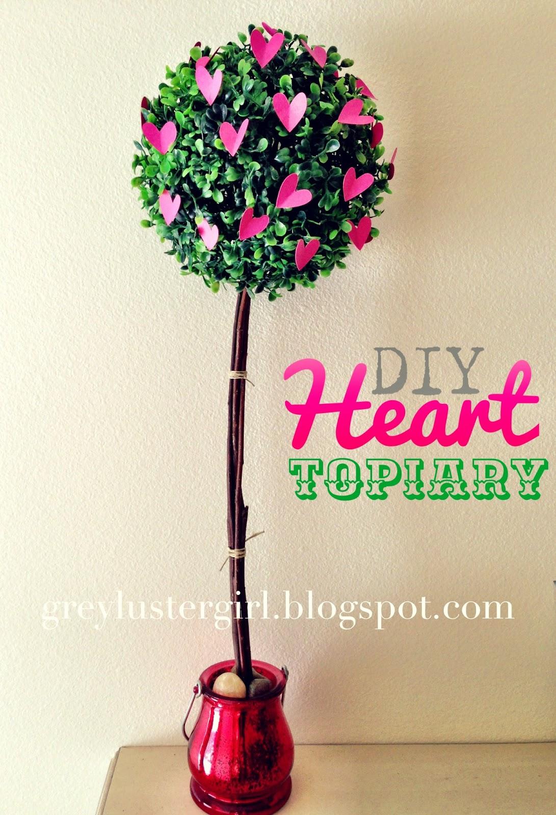 Diy Heart Topiary Tutorial