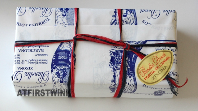 wrapped box of nougats from Planelles Donat