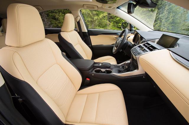 Interior view of 2015 Lexus NX 300h