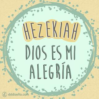 Significado de Hezekiah