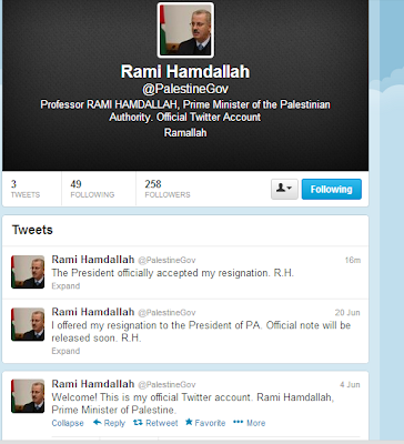 Best Palestinian Gov't Account?