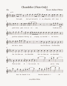 Flute Sheet Music Chandelier Sheet Music
