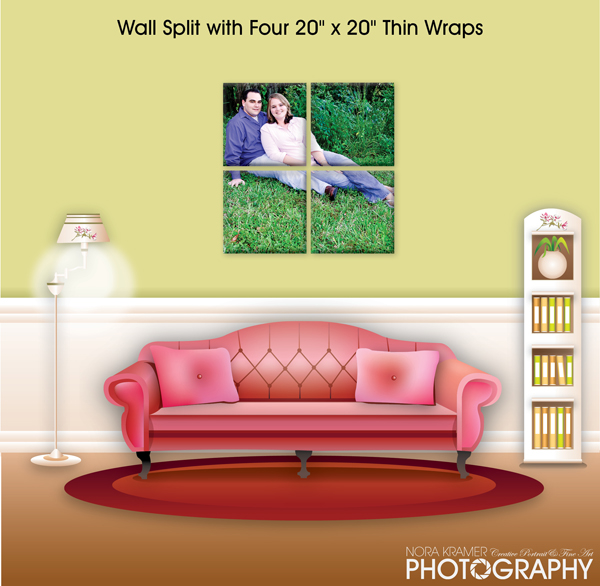 20 x 20 Wall Split Thin Wraps - Nora Kramer Photography