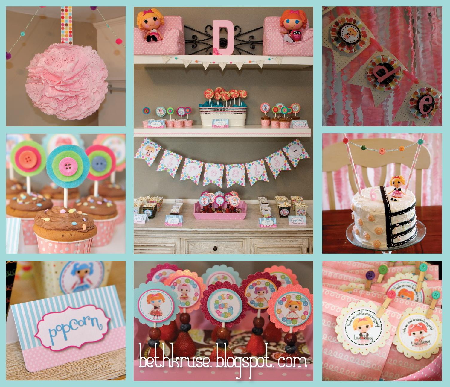 Beth Kruse Custom Creations lalaloopsy party