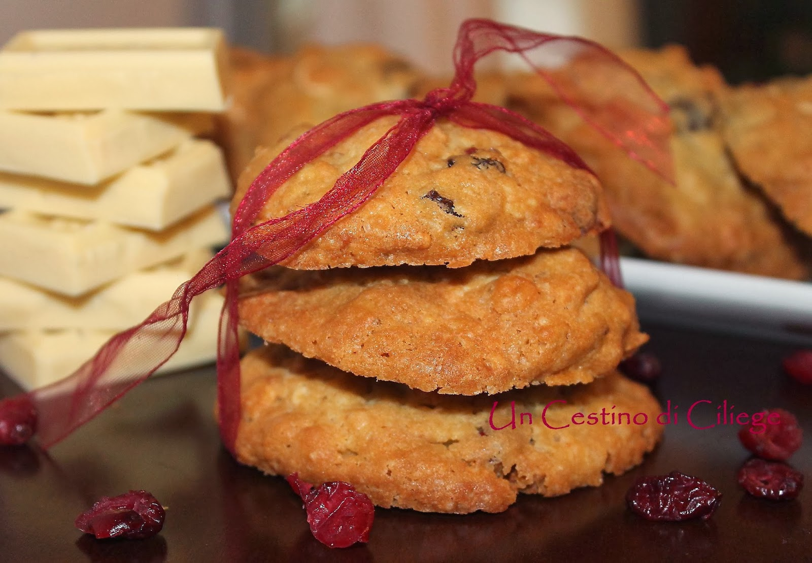 cranberry oat white chocolate cookies