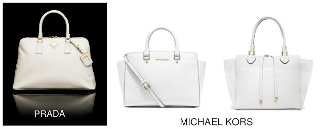 white designer bag, prada, micheal kors, fashion blogger, daniela pires