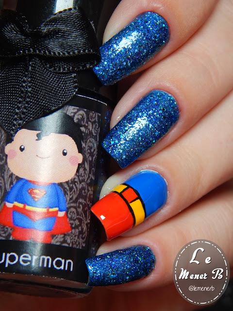 unha decorada superman