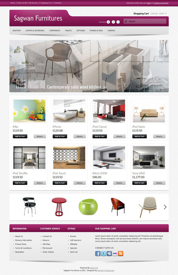 Sagwan-Furniture's-Premium-Opencart-Template