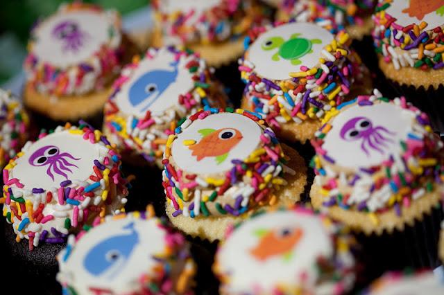 Ocean Animal Cupcakes
