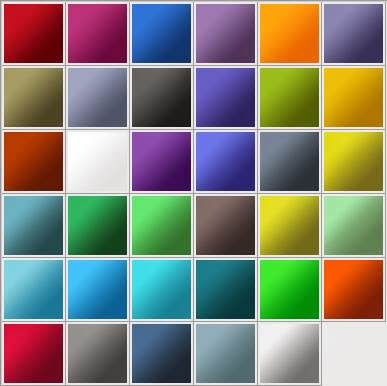 Adobe CS3 Gradients (35 Gradients)