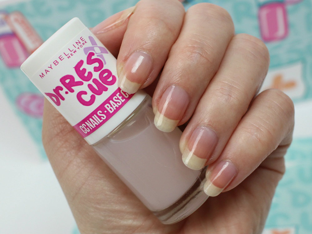 review, erfahrung, all in one, nagellack, nagelpflege, maybelline, base coat, top coat, unterlack, überlack, gel effect, dr. rescue, maybelline dr rescue, cc nails