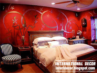 sensual red interior bedroom design ideas, red bedroom paints
