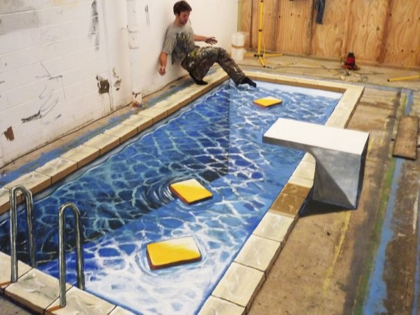Is It Weird Weird But Very Cool 3d Art On The Floor