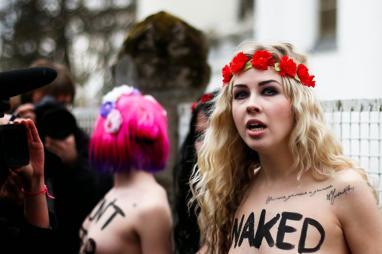 alcune delle Femen russe