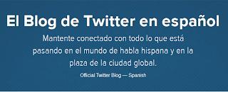 Imagen del Blog Oficial de Twitter en español - https://blog.twitter.com/es/espanol