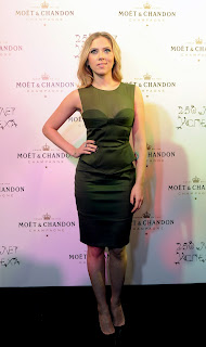 Scarlett Johansson on the red carpet at Moet Chandon 250 Anniversary