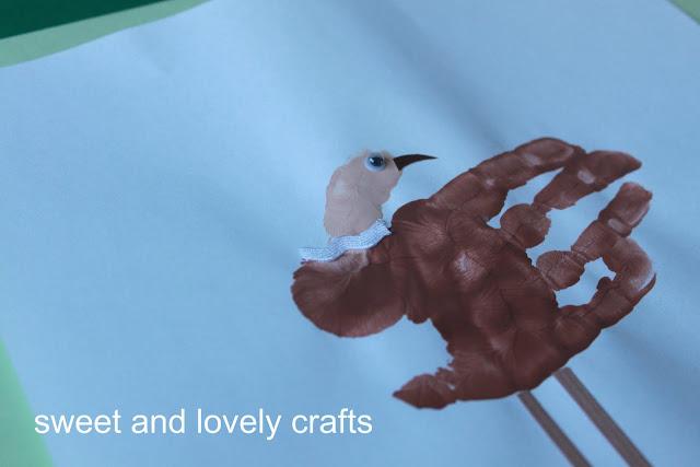 baby made: handprint flamingos & ostriches