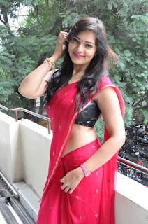 Actress Ashwini  Pictures in Red Saree at Hora Hori Platinum Disc Function  026