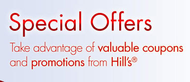 Hill's special offers