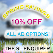 APRIL AD SPECIAL! 10% OFF
