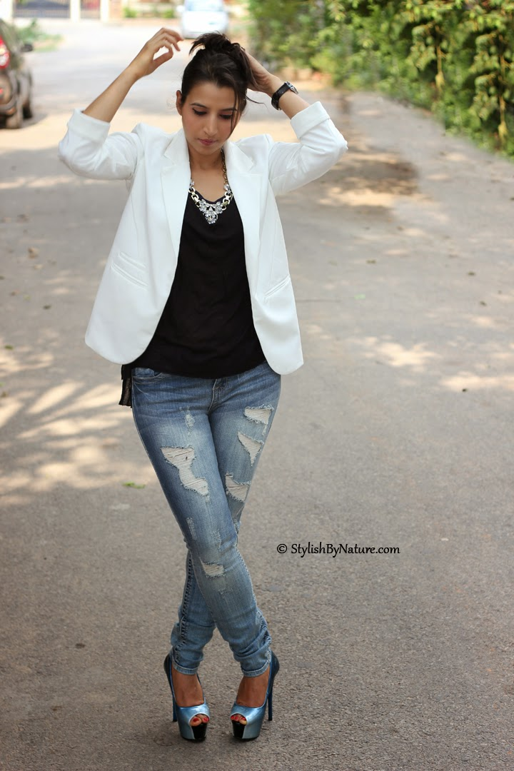 Fashion how to wear ripped skinny jeans SS14