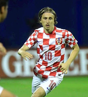 Luka Modric playing for Croatia
