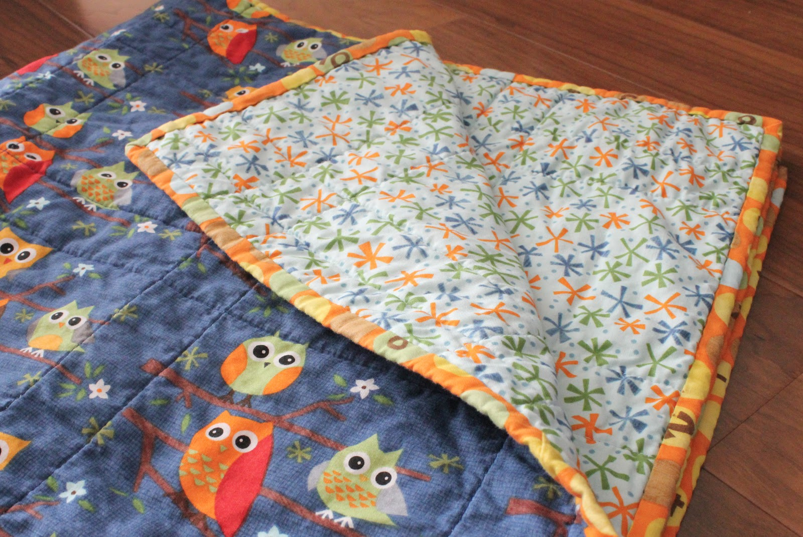 Easy Quilt With Three Fabrics : Fabric Mill: Simple Gifts Baby Quilt