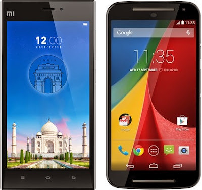 comparison between moto g 2nd gen and xiamoi mi3