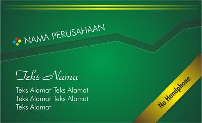 Download Template Kartu Nama V.2