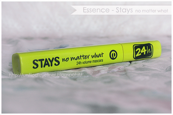essence 24h Volume Mascara stays no matter what