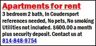 Apartments For Rent In Coudersport