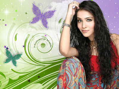 Humaima Malik Stylish Wallpaper 2012