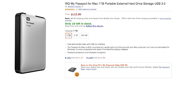 Apple Compatible External Hard Drives Are Over-Priced