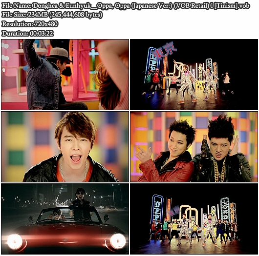 PV Donghae &amp; Eunhyuk - Oppa Oppa (Japanese Ver.) (VOB Retail)