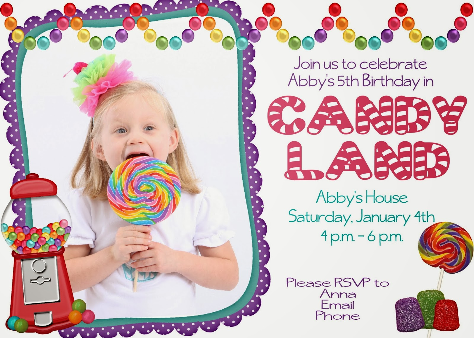 Your Little Birdie: Candyland Birthday Party Invite