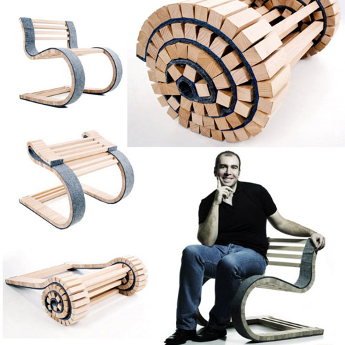 Miesrolo the Dynamic Roll Up Chair