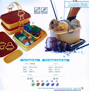 Info & Harga Twin Tulip Tulipware 2014 : Lunch Box | Jumbo Lunch Box