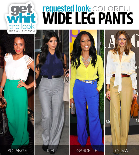 Requested Look: Colorful Wide Leg Pants | Get WHIT It