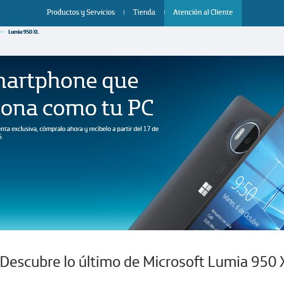 Disponibles los Lumias 950 y 950 XL en México