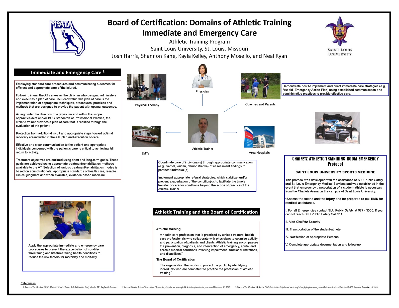 the role responsibilities and experiences of a certified athletic trainer