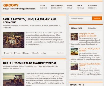 Groovy Magazine Blogger Template