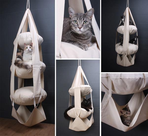 Coelhos peludos e fofos fa a vc mesmo cama para gatos for Cama para gatos