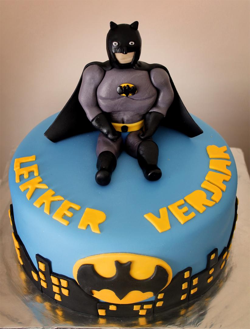 Batman Logo Shaped Cake