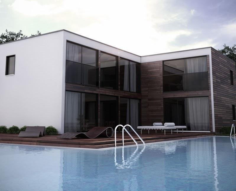 Proyectos de casas modernas proyecto de casa moderna ch193 for Proyectos casas modernas