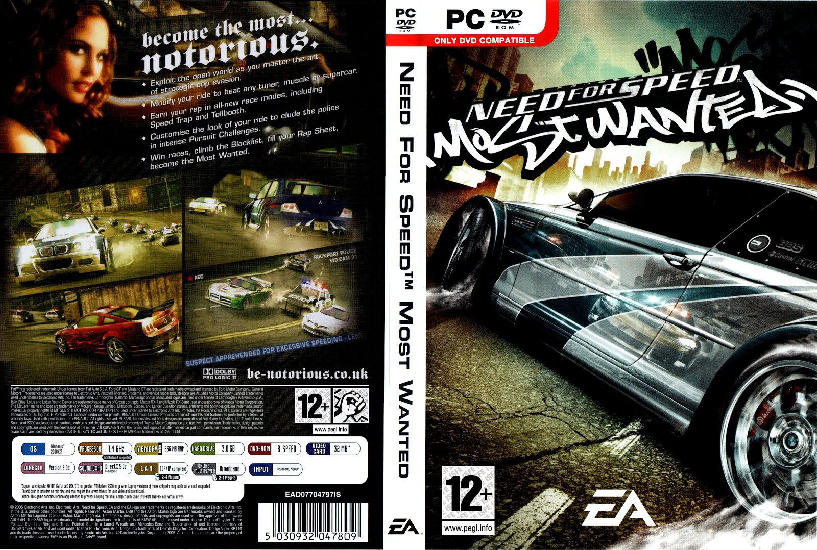 Nodvd nfs most wanted black edition