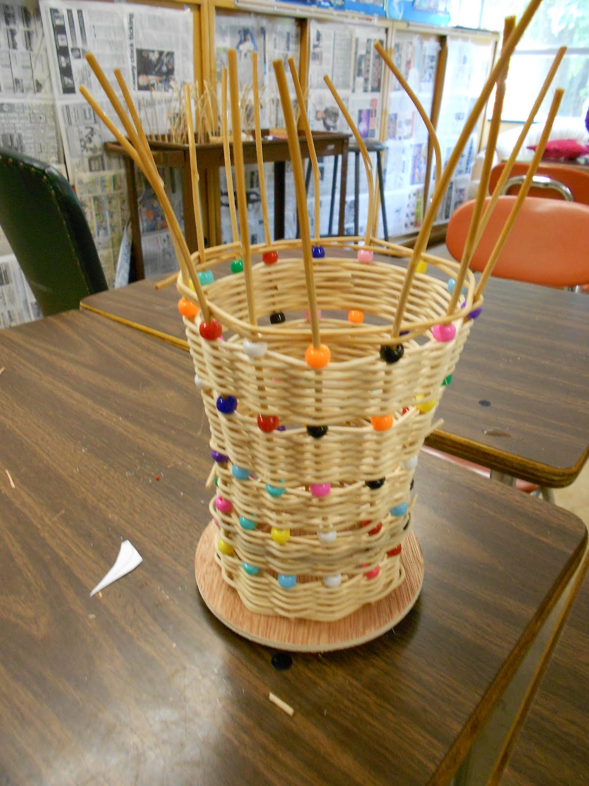 Basket Weaving Uses : Rd craft project completed basket weaving artmuse