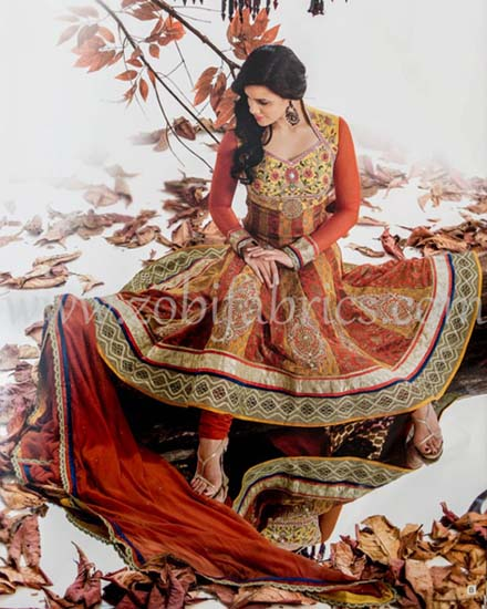 Zobi Fabrics Latest Party Wear Outfits Collection 2013 For girls Women 18 - Zobi Fabrics Latest Party Wear Outfits