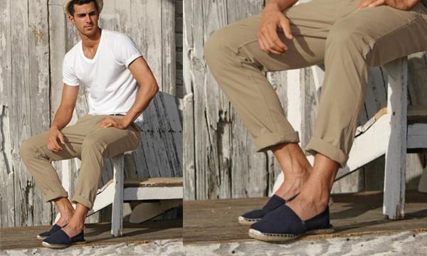 O Cantor Jonny Craig usando uma alpargata Toms Shoes, marca tradicional californiana!