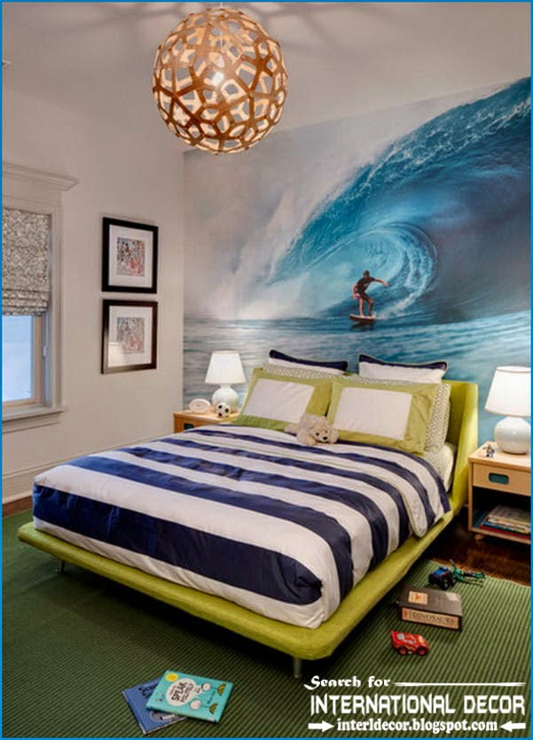 15 attractive teen boys room decor ideas for Art room mural ideas