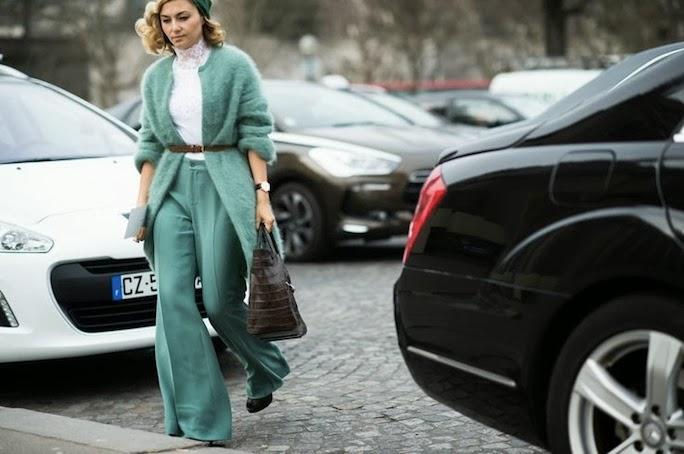Pastels-Paris Haute Couture Street Style